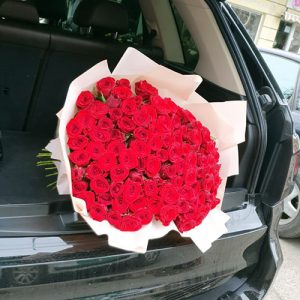 букет к юбилею 101 красная роза
