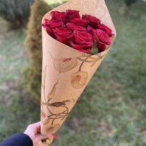 Букет С тобо1 11 красных роз