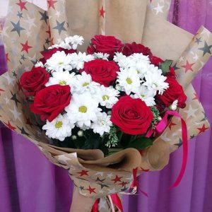 розы и хризантемы фото