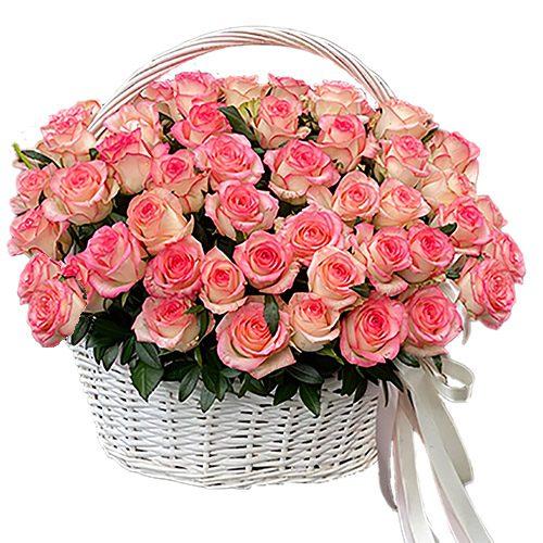 "товар 51 роза ""Джумилия"" в корзине"